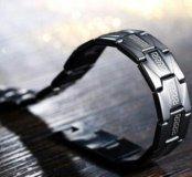 Браслет из черной нержавеющей стали