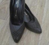 Туфельки - лодочки Кожа