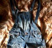 Шорты джинсовые (комбинезон)