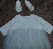 Нарядное платье для девочки на выписку