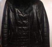 Кожанная куртка утепленная
