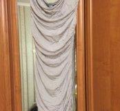 Платье со сборками по бокам,без рукавов