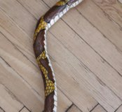 Трость в виде змеи.