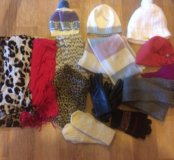 Шарфы, шапки, перчатки