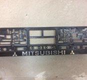 Рамка номера на Mitsubishi