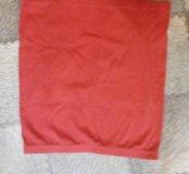 Юбка красная трикотажная размер xs 42