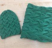 Комплект шапка и шарф (ручная вязка)
