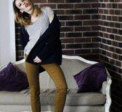 брюки горчичного цвета h&m
