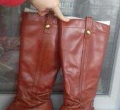 Сапоги кожаные женские р38-39
