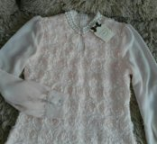 Блузка новая р.46 нежно розового цвета