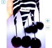 MiuMiu новый шарфик с бубончиками