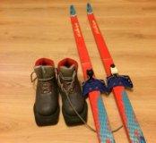 Лыжи Madshus 150см., ботинки р.32