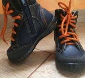 Детские ботинки на байке