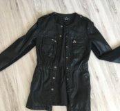 Куртка кожзам, удлиненная