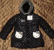 Куртка для девочки новая Hello Kitty рост 104-110