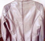 Куртка кожаная Benetton 44р