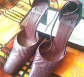 Туфли из кожи страуса Италия
