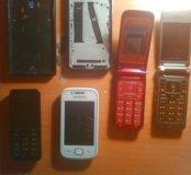 Телефоны пакетом на запчасти
