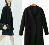 Новое черное пальто размера xs