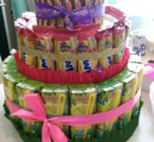 Торт из сладостей ( торт для детского сада)