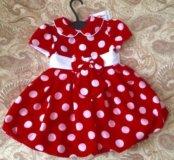 Новое платье от 1 года до 2,6 лет