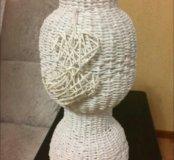 Ваза ручной работы плетеная