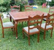 Старинный стол и 6 стульев ,Голландия