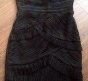 Чёрное коктельное платье