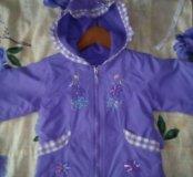 Красивая курточка р.86-92