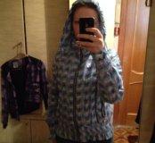 Демисезонная куртка голубая