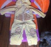Детский  комплект, полукомбинезон + куртка на весн