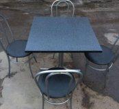 Стол + стулья.