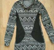 Теплое флисовое платье