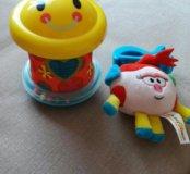 Неваляшка+ игрушка на коляску