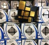 Кубик Рубика зеркальный сереб-зол