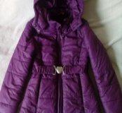 Пальто весеннее на девочку 134