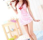 Розовый фартук медсестры