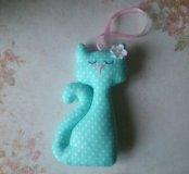 Новый текстильный котик ручной работы