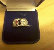 Кольцо мужское серебро 19 размер