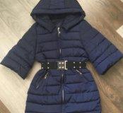 Куртка синяя 3/4 рукава