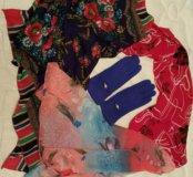 Платки, шарф + перчатки