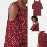 Платье с открытыми плечами mango
