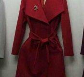 Новое пальто Zara марсала с отложным воротником