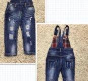 Детский джинсовый комбинезон