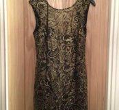 Золотое с чёрным гипюровое платье. Новое. Англия