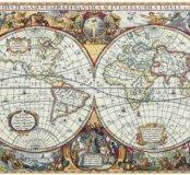 Географическая карта мира - набор для вышивания