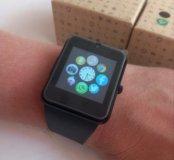 Яркие копии часов SmartWatch в стальном цвете