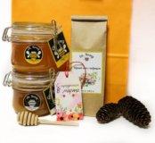 Подарочные наборы из мёда, варенья и чая