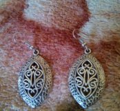 Серьги под античное серебро