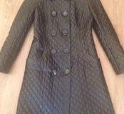 Стильное пальто (кожа)
